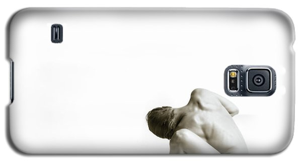 Galaxy S5 Case featuring the photograph Twisted Figure On White by Rikk Flohr