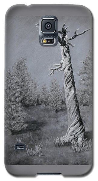 Galaxy S5 Case featuring the painting Twisted by Nancy Jolley