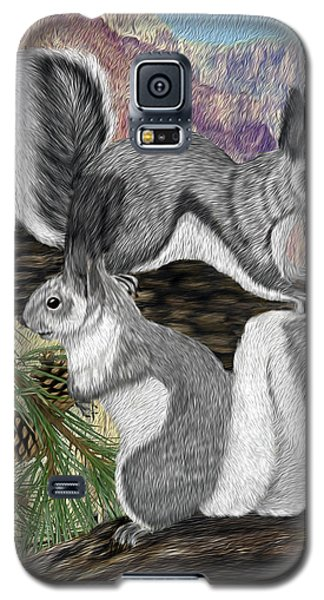 Two Abret Squirrels Galaxy S5 Case by Walter Colvin