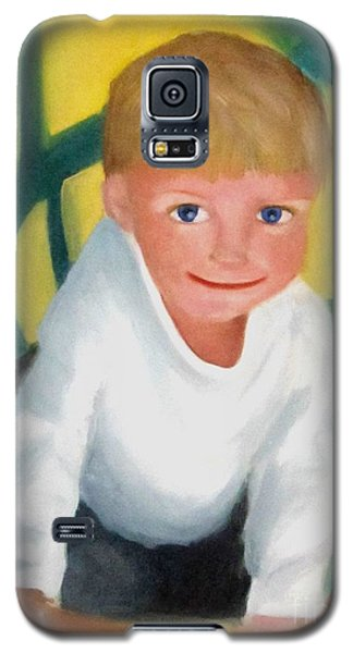 Galaxy S5 Case featuring the painting Two And A Half by Patricia Cleasby