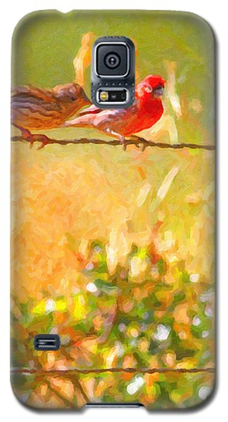 Two Birds On A Wire Galaxy S5 Case