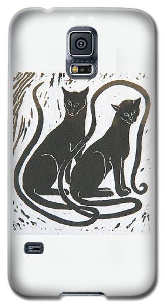 Two Black Felines Galaxy S5 Case by Nareeta Martin