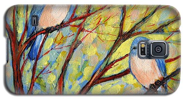 Branch Galaxy S5 Case - Two Bluebirds by Jennifer Lommers