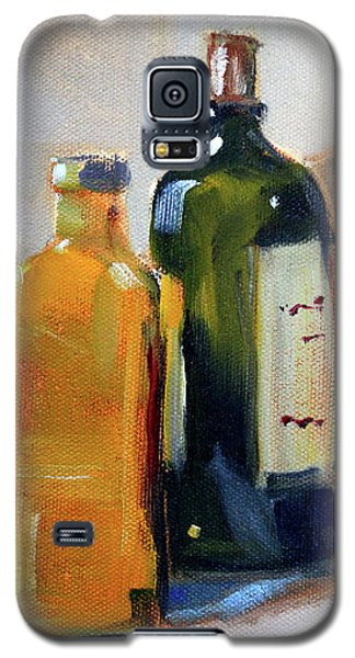 Galaxy S5 Case featuring the painting Two Bottles by Nancy Merkle