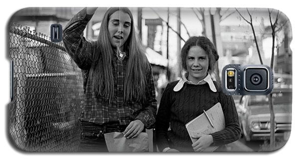 Two Brown Students, Thayer Street, Providence, 1972 Galaxy S5 Case