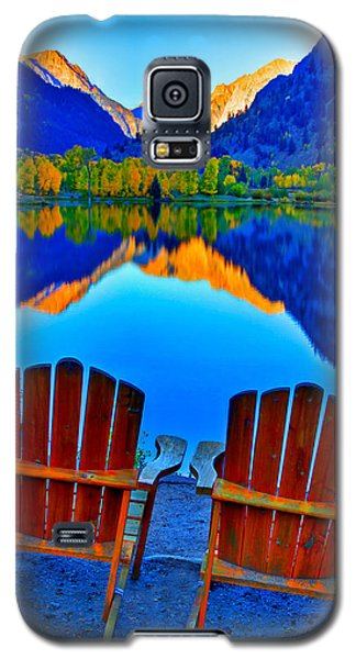 Two Chairs In Paradise Galaxy S5 Case by Scott Mahon