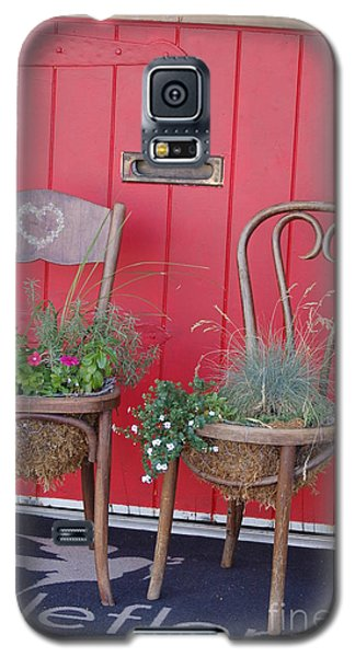 Two Chairs With Plants Galaxy S5 Case