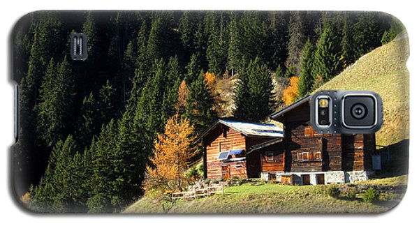 Two Chalets On A Mountainside Galaxy S5 Case by Ernst Dittmar