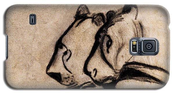 Two Chauvet Cave Lions - Clear Version Galaxy S5 Case