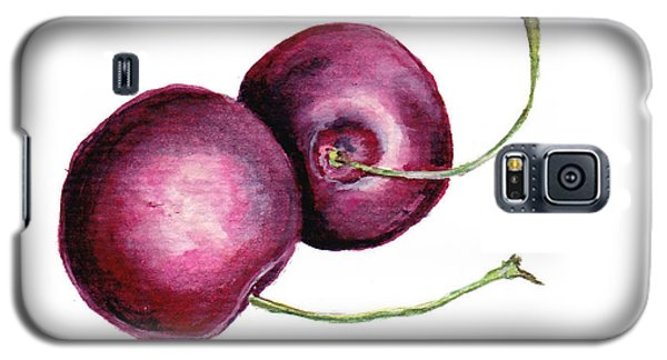 Galaxy S5 Case featuring the painting Two Cherries by Heidi Kriel