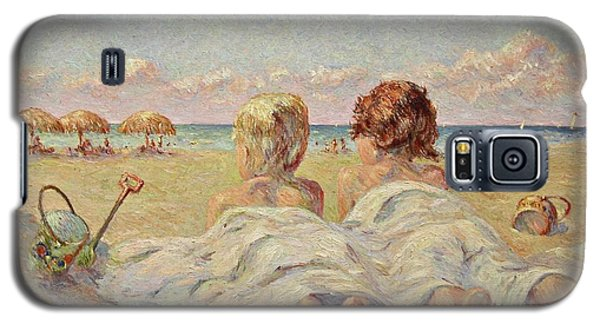 Two Children On The Beach Galaxy S5 Case