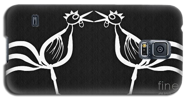 Two Crowing Roosters 2 Galaxy S5 Case