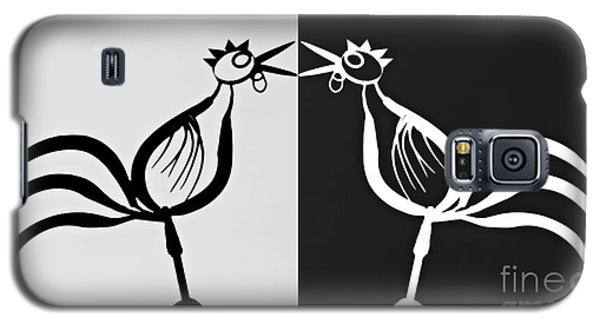 Two Crowing Roosters 3 Galaxy S5 Case