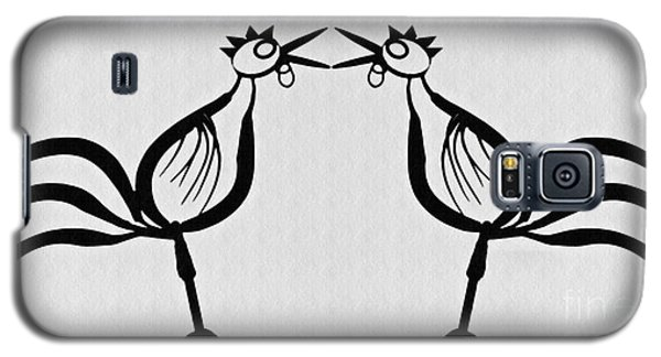 Two Crowing Roosters  Galaxy S5 Case