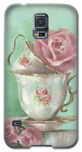 Two Cup Rose Painting Galaxy S5 Case by Chris Hobel