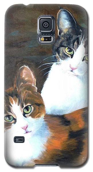 Galaxy S5 Case featuring the painting Two Friends by Diane Daigle
