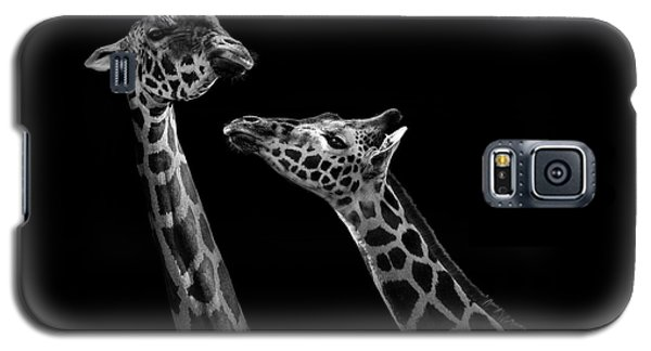 Two Giraffes In Black And White Galaxy S5 Case