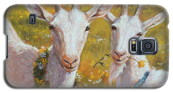 Two Goats Of Summer Galaxy S5 Case by Tracie Thompson