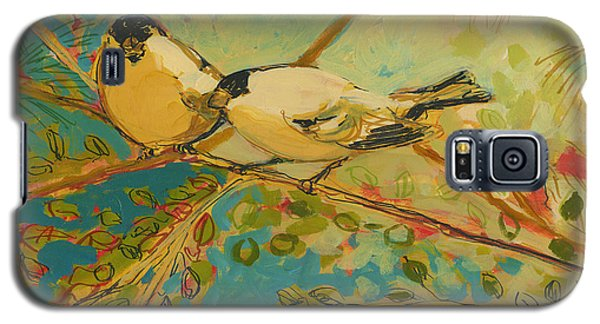 Wildlife Galaxy S5 Case - Two Goldfinch Found by Jennifer Lommers