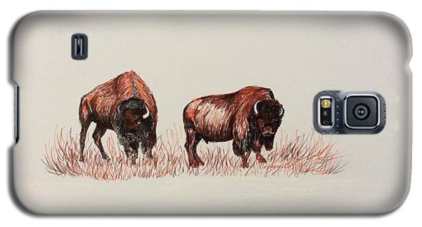 Two Grumpy Bisons  Galaxy S5 Case