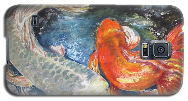 Galaxy S5 Case featuring the painting Two Koi by Susan Herbst