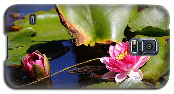 Galaxy S5 Case featuring the photograph Two Lilies by Richard Patmore