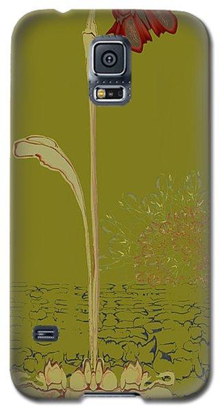 Two Lip Blob Flower Galaxy S5 Case