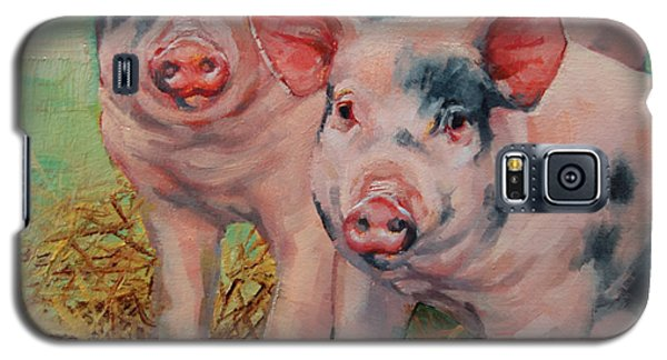 Two Little Pigs  Galaxy S5 Case by Margaret Stockdale