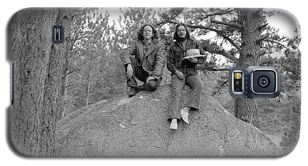 Two Men On A Boulder In The American West, 1972 Galaxy S5 Case