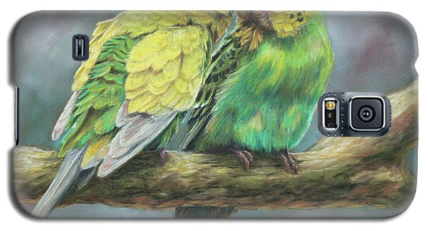 Parakeet Galaxy S5 Case - Two Of A Kind by Kirsty Rebecca