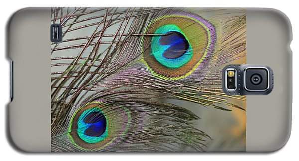 Two Peacock Feathers Galaxy S5 Case
