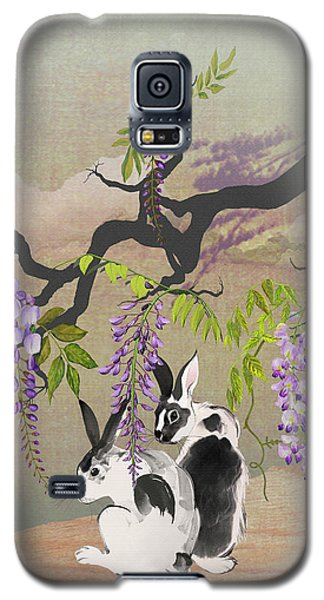 Two Rabbits Under Wisteria Tree Galaxy S5 Case