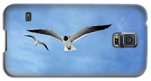 Two Seagulls Against A Blue Sky Galaxy S5 Case