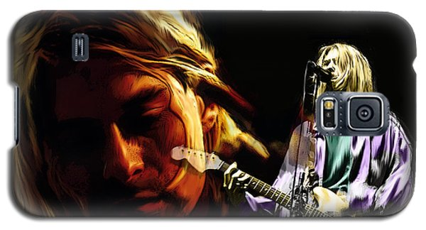 Two Shades  Kurt Cobain Galaxy S5 Case by Iconic Images Art Gallery David Pucciarelli