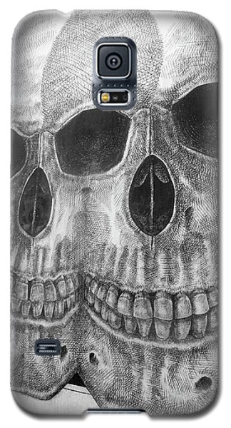Galaxy S5 Case featuring the photograph Two Skulls ... by Juergen Weiss