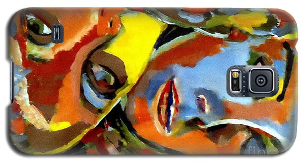 Galaxy S5 Case featuring the painting Two Souls by Helena Wierzbicki