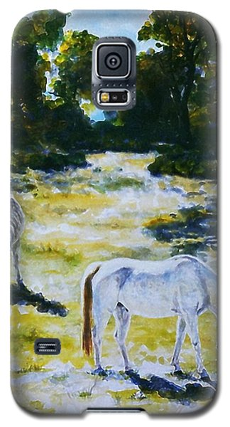 Galaxy S5 Case featuring the painting  Sunlit by Hartmut Jager