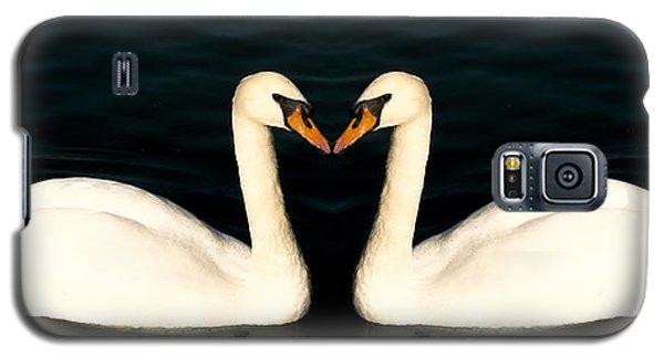 Two Symmetrical White Love Swans Galaxy S5 Case by John Williams