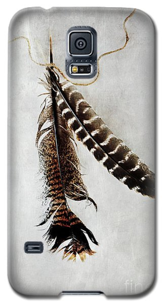 Galaxy S5 Case featuring the photograph Two Tattered Turkey Feathers by Stephanie Frey