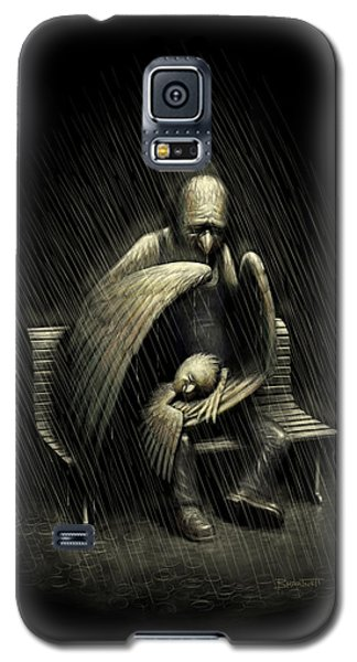 Galaxy S5 Case featuring the digital art Two Wings And A Prayer by Ben Hartnett