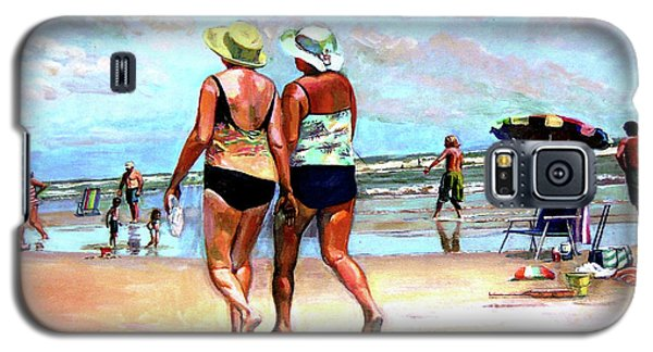 Two Women Walking On The Beach Galaxy S5 Case by Stan Esson
