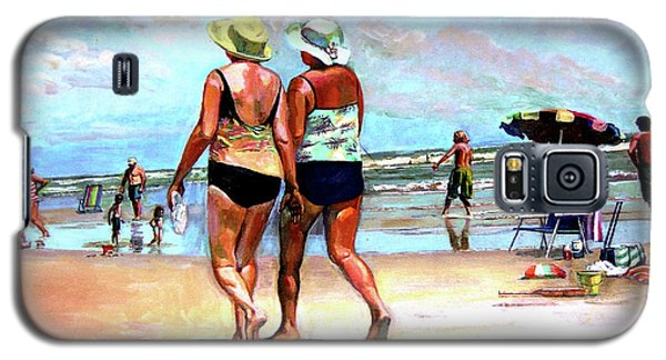 Two Women Walking On The Beach Galaxy S5 Case