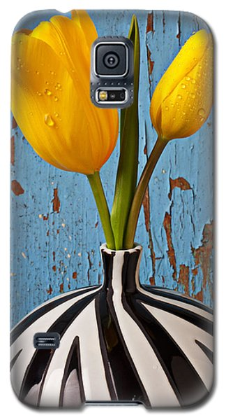 Two Yellow Tulips Galaxy S5 Case by Garry Gay