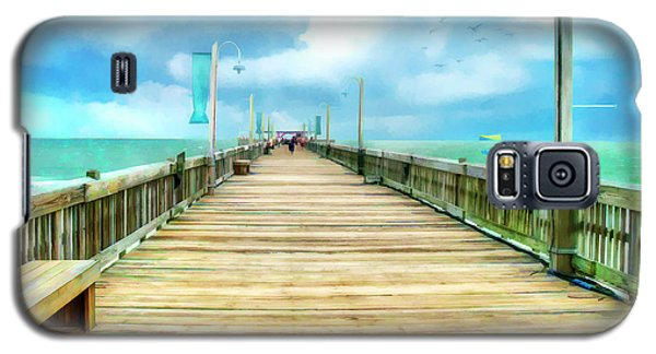 Tybee Island Pier In Watercolor Galaxy S5 Case
