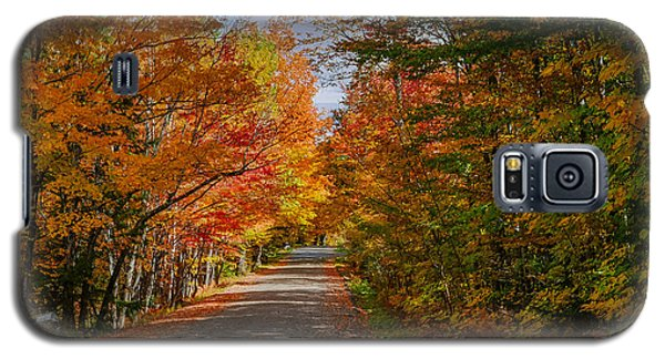 Typical Vermont Dirve - Fall Foliage Galaxy S5 Case