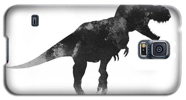 Tyrannosaurus Figurine Watercolor Painting Galaxy S5 Case by Joanna Szmerdt