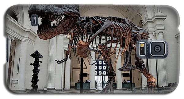 Galaxy S5 Case featuring the digital art Tyrannosaurus Rex Sue - Chicago by Daniel Hagerman