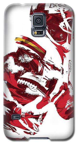 Galaxy S5 Case featuring the mixed media Tyreek Hill Kansas City Chiefs Pixel Art 1 by Joe Hamilton
