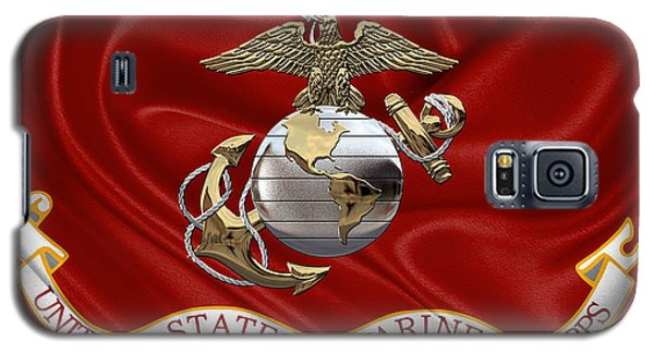 U. S.  Marine Corps - U S M C Eagle Globe And Anchor Over Corps Flag Galaxy S5 Case