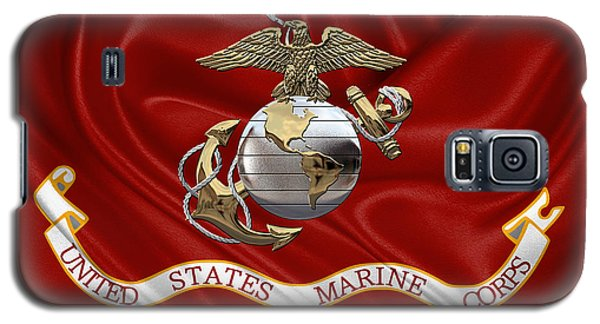 U. S.  Marine Corps - U S M C Eagle Globe And Anchor Over Corps Flag Galaxy S5 Case